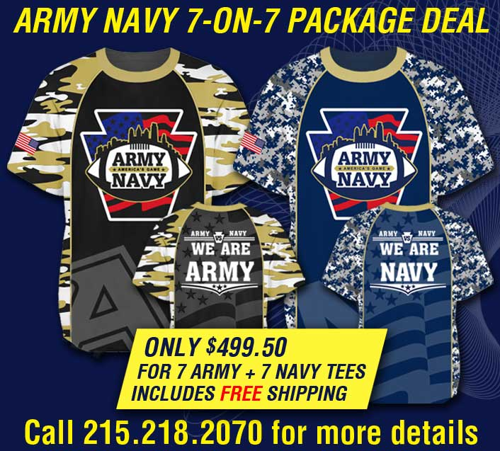 custom football performance shirt for army navy game