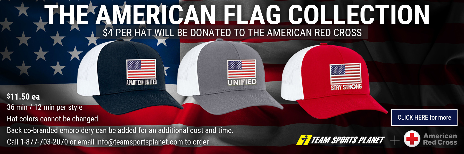 Pacific Headwear American Flag caps
