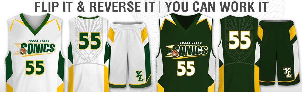 custom sublimated reversible basketball uniforms