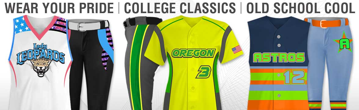 These are Custom Sublimated Softball Uniforms