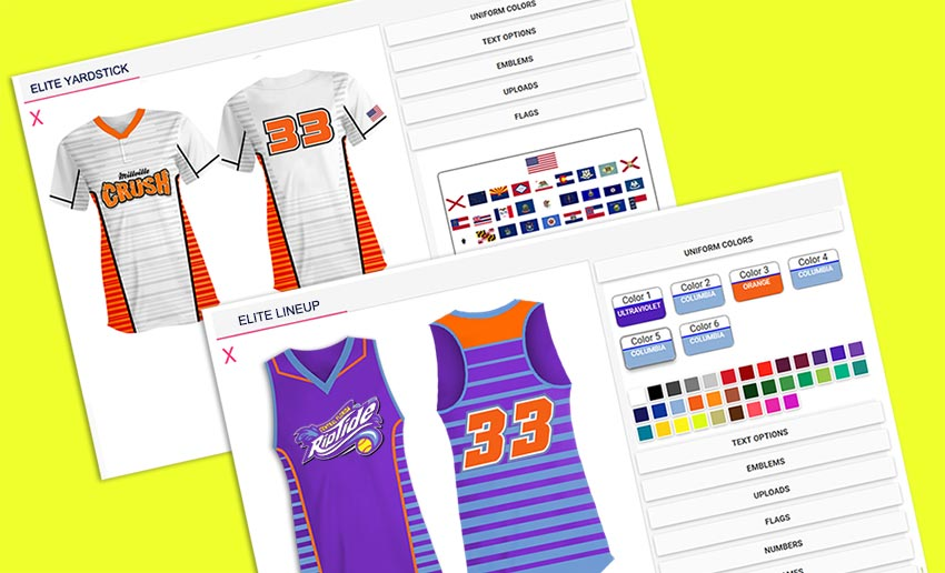 Design Your Own Fastpitch Softball jerseys