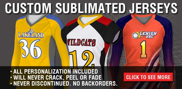 Volleyball Uniforms: Custom Sublimated Jerseys