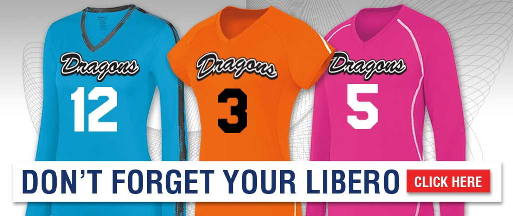 Volleyball Uniforms and Libero Jersey Options