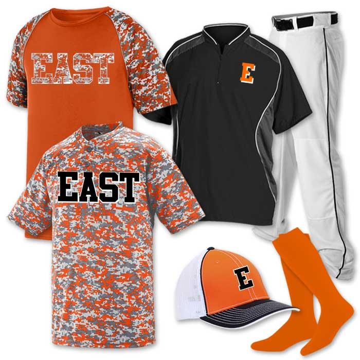 Baseball Uniform Team Pack Delta Camo 2 featuring 2 digi camo baseball jerseys.