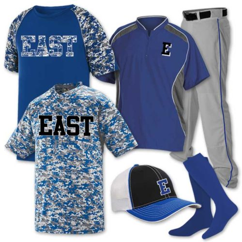 Baeball Uniform Team Pack Delta Camo 2 featuring 2 digi camo baseball jerseys.