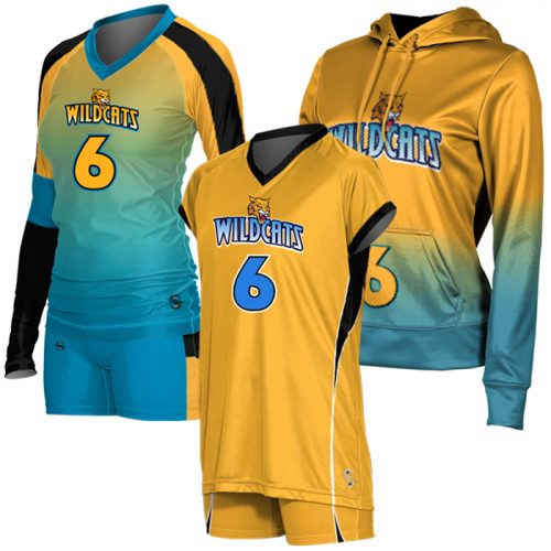 Custom Sublimated Volleyball Uniform Team Pack ProSphere Tsunami