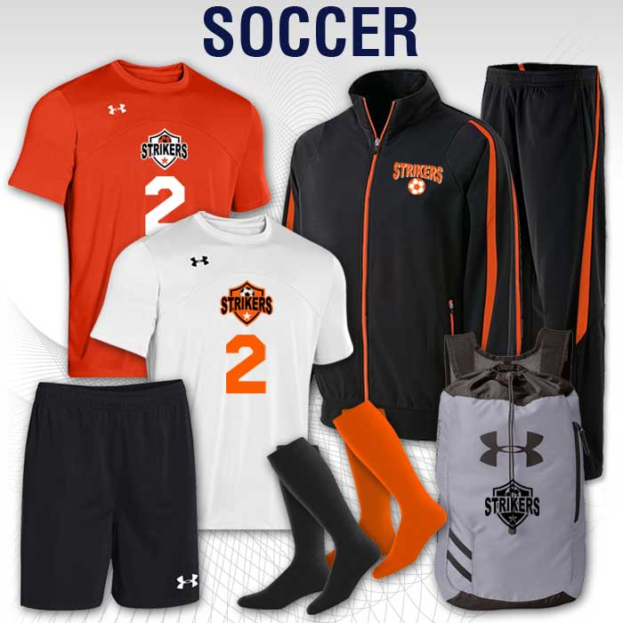 soccer team uniform packages