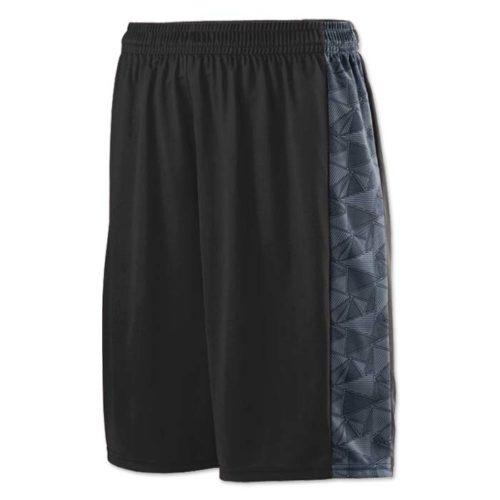 Black Augusta brand Ultra Geo Basketball Uniform Shorts