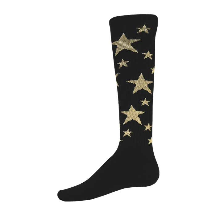 Stars Athletic Socks in Black and Vegas