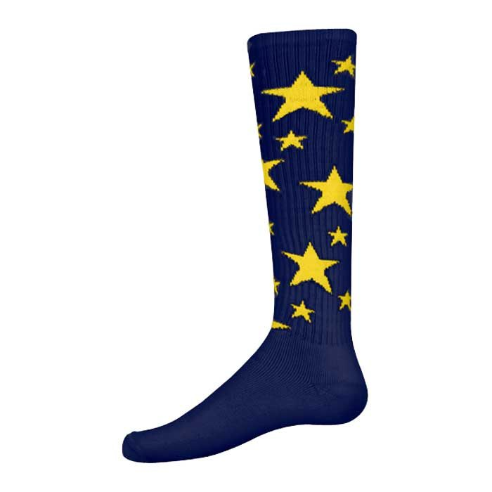 Stars Athletic Socks in Navy and Gold