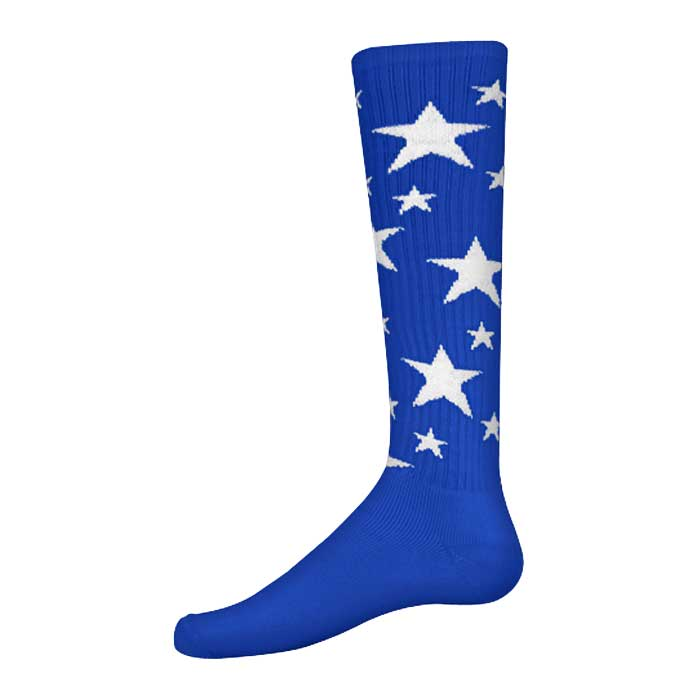 Stars Athletic Socks in Royal and White