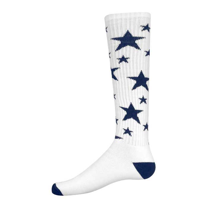 Stars Athletic Socks in White and Navy