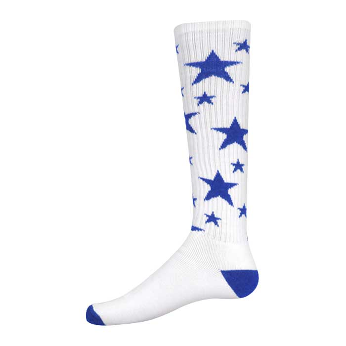 Stars Athletic Socks in White and Royal