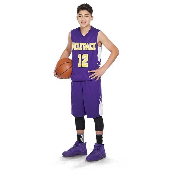 reversible alley-oop basketball uniform