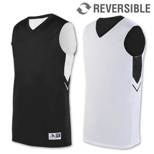reversible alley-oop basketball uniform jersey in black