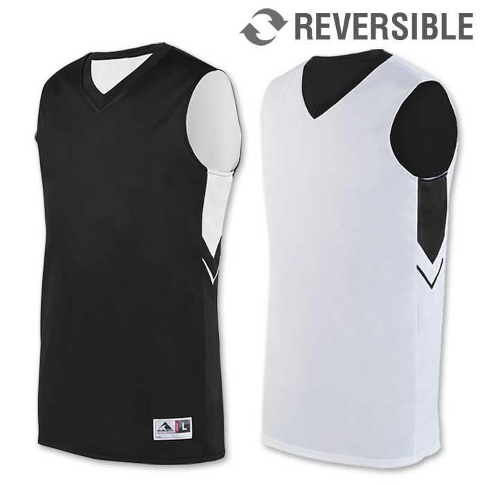 reversible alley-oop basketball uniform jersey in black