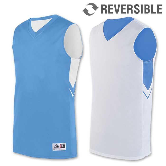 reversible alley-oop basketball uniform jersey in light blue