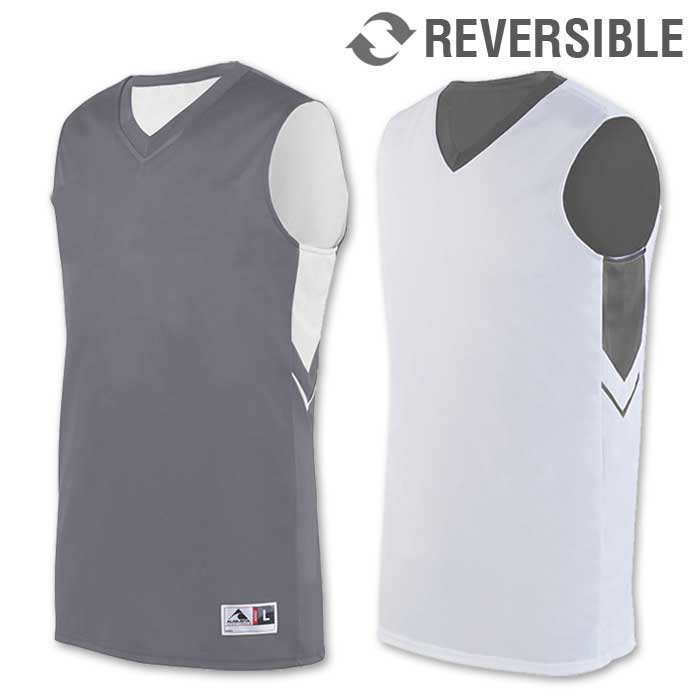 reversible alley-oop basketball uniform jersey in grey