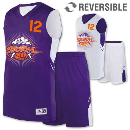 reversible alley-oop basketball uniform
