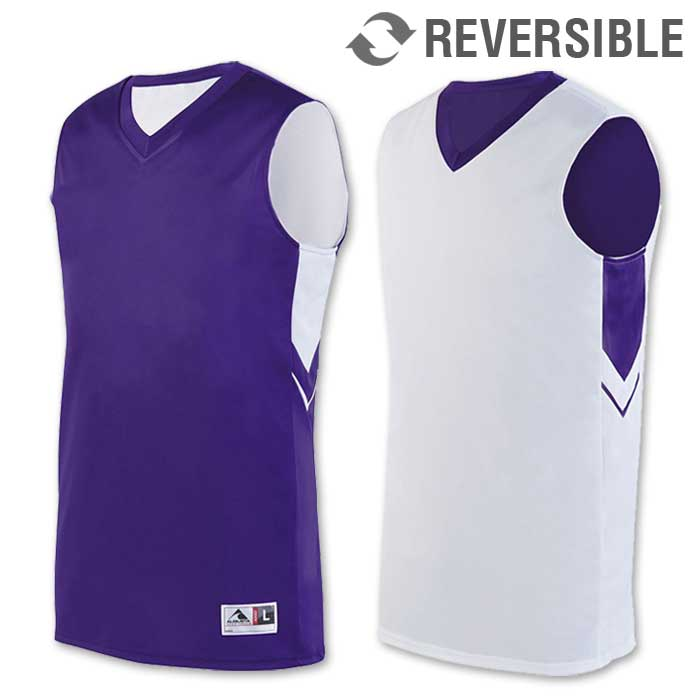 reversible alley-oop basketball uniform jersey in purple
