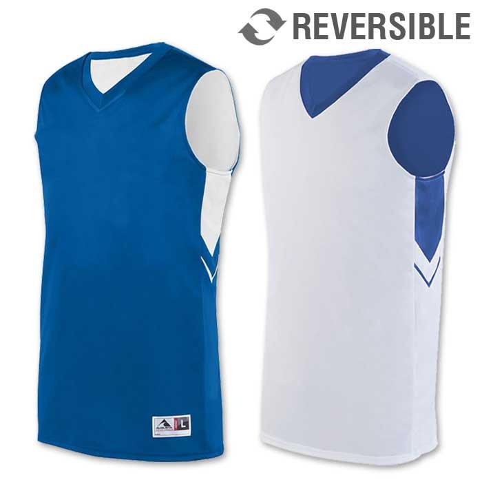 reversible alley-oop basketball uniform jersey in royal blue