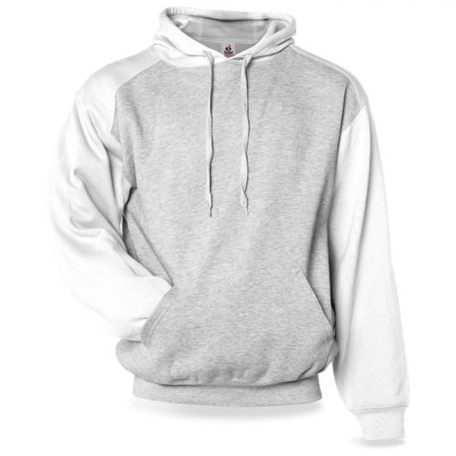 Badger Athletic Fleece Sport Hoodie in White