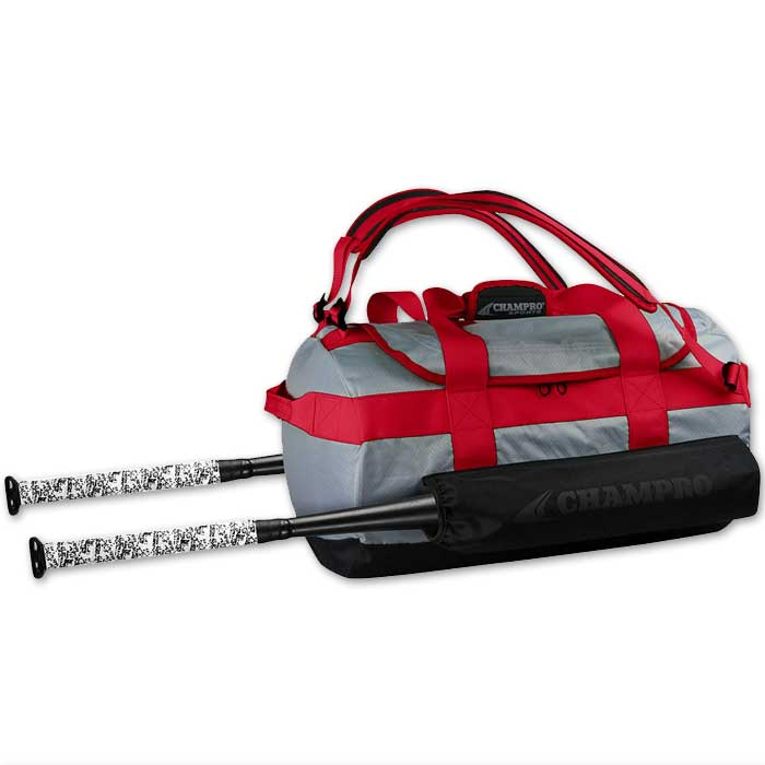 Red Champro Base Knock Duffel Bat Pack