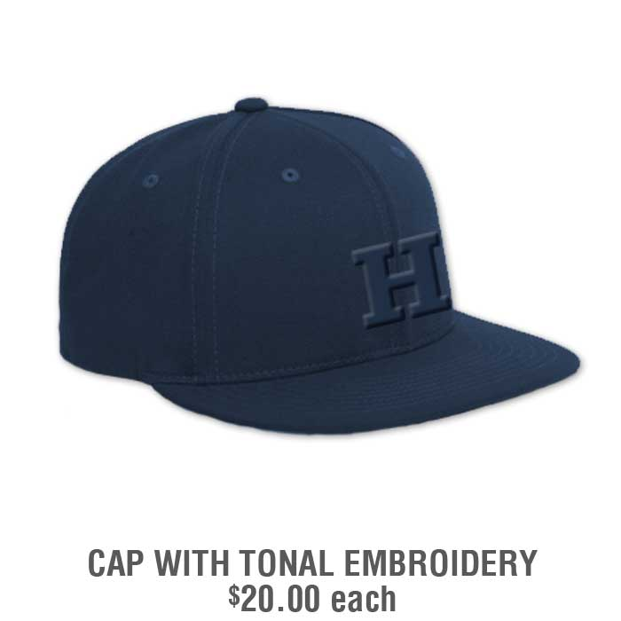 Baseball Team Pack Add-Ons: Baseball Cap with 3-D Tonal Embroidery