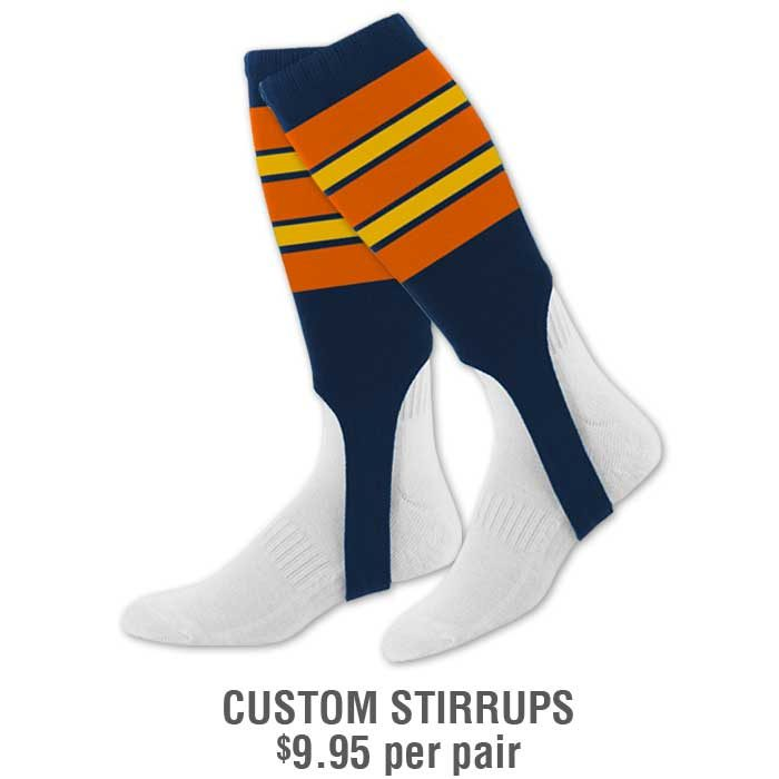Baseball Team Pack Add-Ons: Custom Stirrups with Stripes