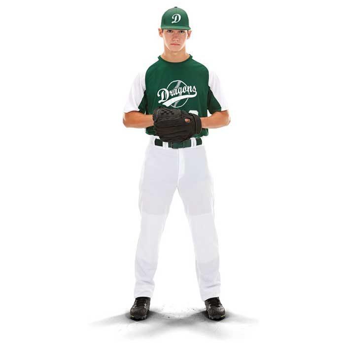 Front View of Cutter Baseball Uniform Jersey on Mode