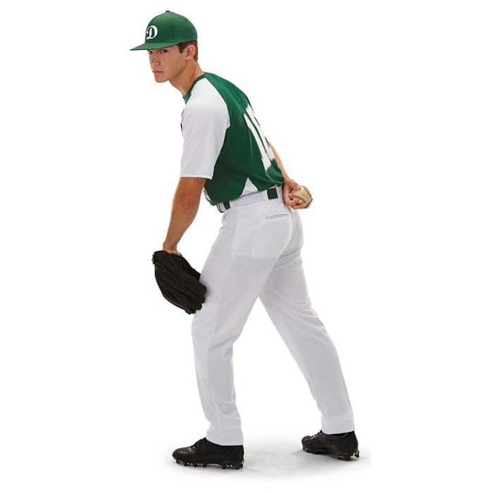Left Side View of Cutter Baseball Uniform Jersey on Mode