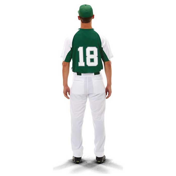 Back View of Cutter Baseball Uniform Jersey on Mode