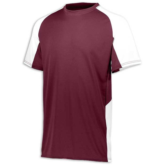 Maroon and White Cutter Baseball Uniform Jersey