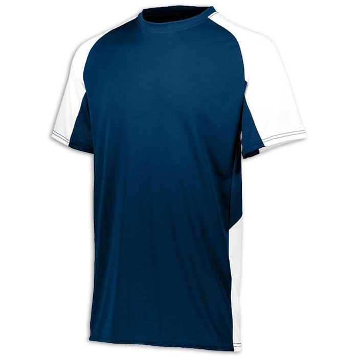 Navy Blue and White Cutter Baseball Uniform Jersey