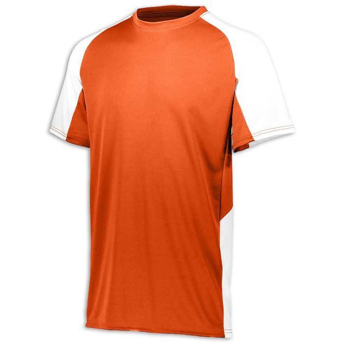 Orange and White Cutter Baseball Uniform Jersey