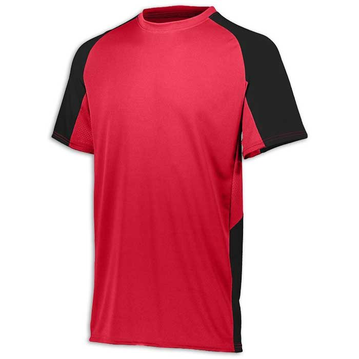 Red and Black Cutter Baseball Uniform Jersey