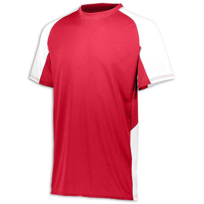 Red and White utter Baseball Uniform Jersey