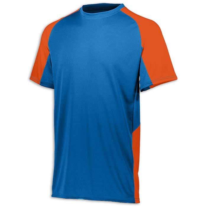 Royal Blue and Orange Cutter Baseball Uniform Jersey