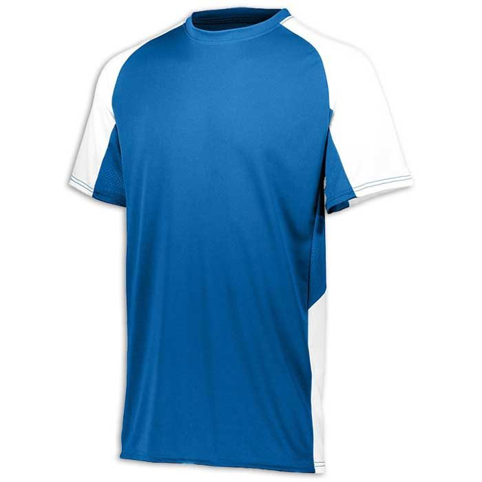 Royal Blue and White Cutter Baseball Uniform Jersey