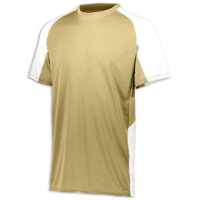 Vegas Gold and White Cutter Baseball Uniform Jersey