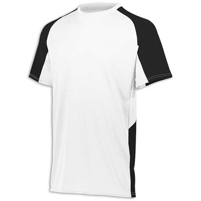 White and Black Cutter Baseball Uniform Jersey