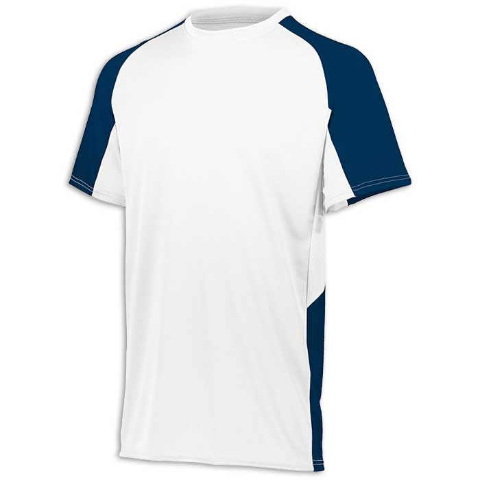 White and Navy Blue Cutter Baseball Uniform Jersey