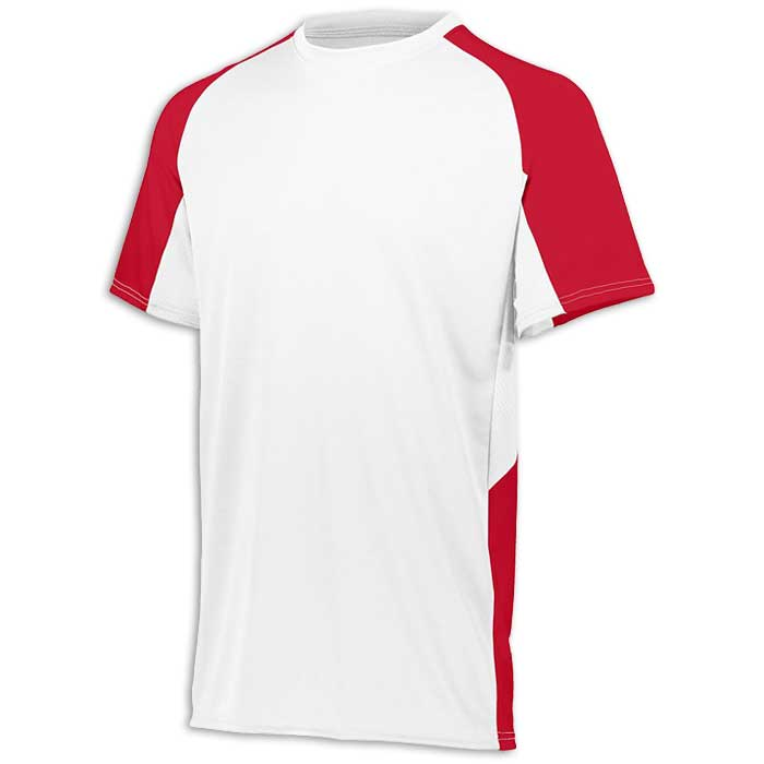 White and Red Cutter Baseball Uniform Jersey