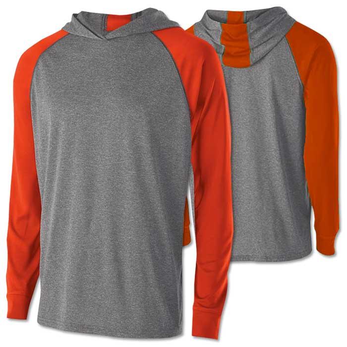 Men's Echo Lightweight Hoodie in Orange