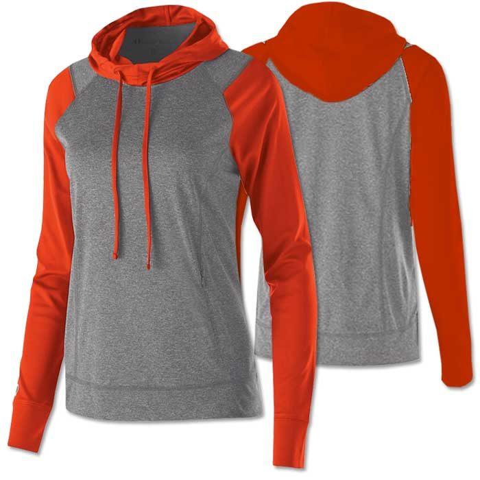 Women's Echo Lightweight Hoodie in Orange