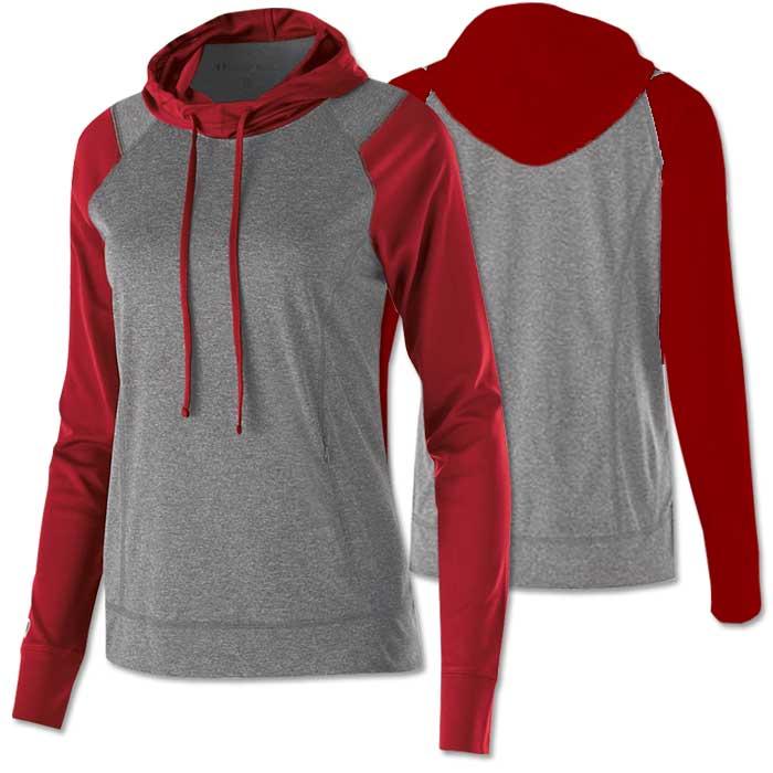 Women's Echo Lightweight Hoodie in Red