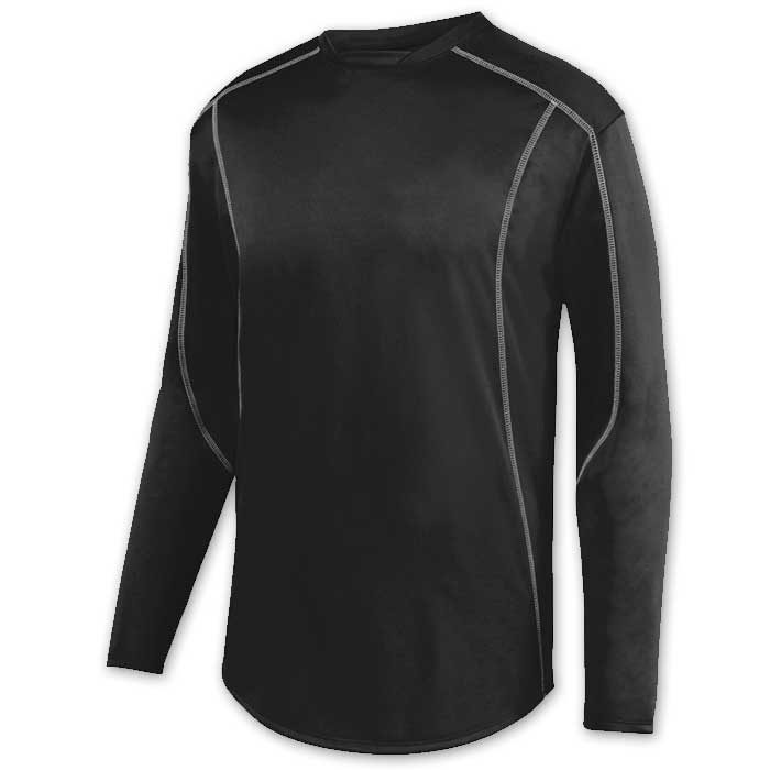 Black Edge Pullover Batting Jacket