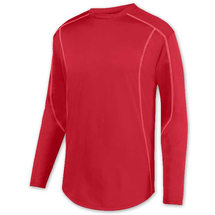 Red Edge Pullover Batting Jacket