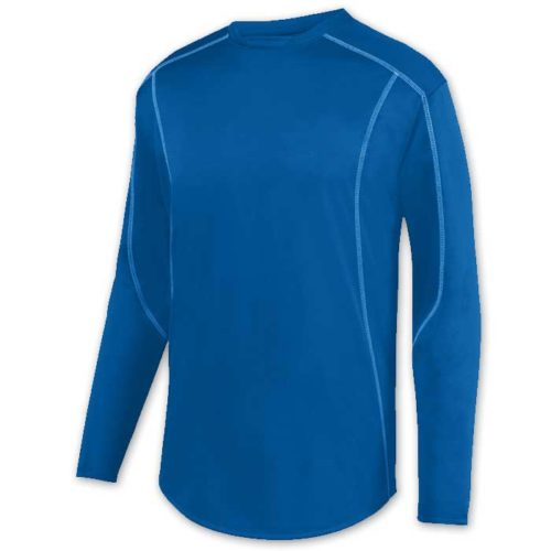 Royal Blue Edge Pullover Batting Jacket