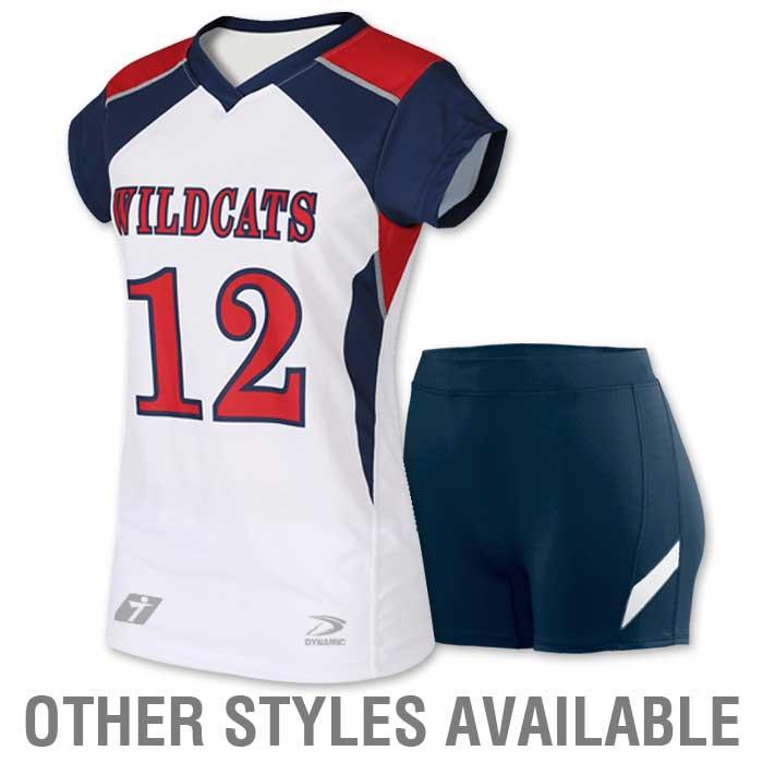 1395386d7af Custom Cap Sleeve Volleyball Uniform - Youth   Adult